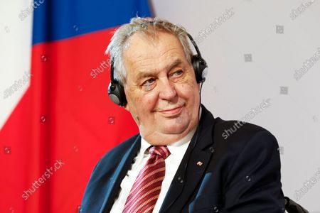 The president of the Czech Republic Milos Zeman addresses the media during a joint press conference after their meeting at the Hofburg palace with the Austrian President Alexander Van der Bellen in Vienna, Austria