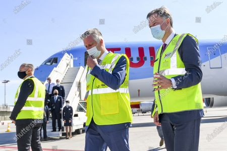King Philippe visits Brussels Airport