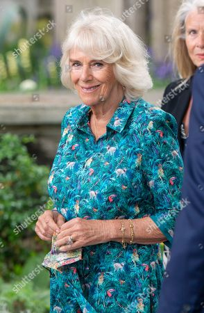 Camilla, Duchess of Cornwall visits the Garden Museum to open the annual British Flowers Week festival, London