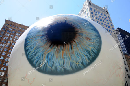 'Eyeball' Art Installation by Tony Tasset