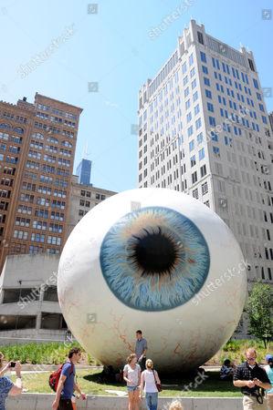 'Eyeball' Art Installation by Tony Tasset
