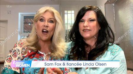Samantha Fox and Linda Olsen