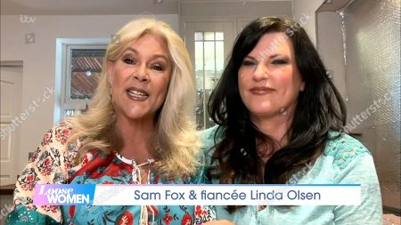 Stock Image of Samantha Fox and Linda Olsen