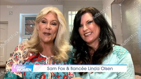 Stock Picture of Samantha Fox and Linda Olsen