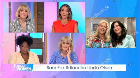 Kaye Adams, Frankie Bridge, Judi Love, Jane Moore, Samantha Fox and Linda Olsen