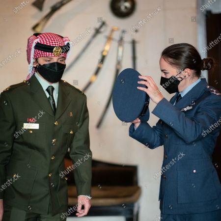 Editorial image of Their Royal Highnesses Prince Hashem and Princess Salma before attending a celebration to mark Jordan's state centennial, Amman, Jordan - 10 Jun 2021