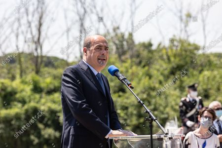 Editorial picture of Inauguration of the  G20 Green Garden at the Appia Antica park, Rome, Italt, Italy - 10 Jun 2021