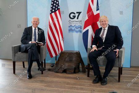Joe Biden and Boris Johnson bilateral meeting ahead of G7 Summit, Carbis Bay