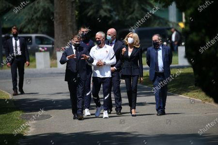 Editorial photo of UEFA EURO 2020 France's soccer National team meet with the French President, Clairefontaine En Yvelines - 10 Jun 2021