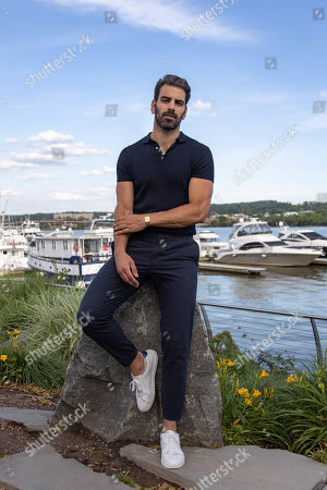 Stock Image of Model Nyle DiMarco poses for a portrait