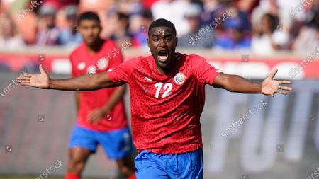 Costa Rica's Joel Campbell reacts in the first half during an international friendly soccer match against the United States, in Sandy, Utah