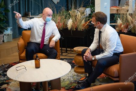 Interview with Noel Le Graet, President of the French Football Federation and Gianni Infantino, President of FIFA