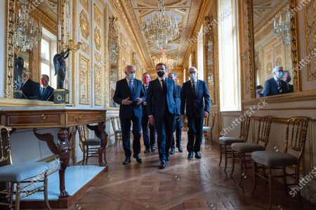 Jean-Marc Ayrault, Emmanuel Macron, President of the Republic, at the inauguration of the Hotel de la Marine