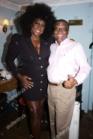 Mica Paris with the Head of Centre Point Seyi Obakin