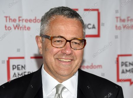 """Stock Photo of Jeffrey Toobin attends the PEN Literary Gala on May 22, 2018, in New York. The CNN legal analyst returned to the network, for the first time in more than seven months after he was caught masturbating on a Zoom call with former colleagues at The New Yorker. Toobin, in an interview with CNN's Alisyn Camerota, said that he was grateful to CNN for another chance and that he was """"trying to become the kind of person that people can trust again"""