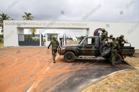 Editorial picture of Inauguration of the International Academy for the Fight against Terrorism by Jean-Yves Le Drian French Minister for Europe and Foreign Affairs, Abidjan, Ivory Coast - 10 Jun 2021