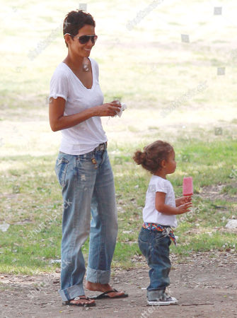 Stock Picture of Halle Berry, Nahla Ariela Aubry