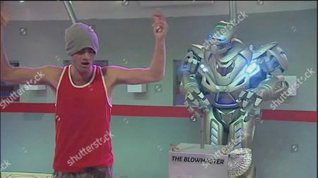 Nathan Dunn and Titan the Robot