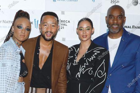 Nneka Onuorah, John Legend, Giselle Bailey and Mike Jackson