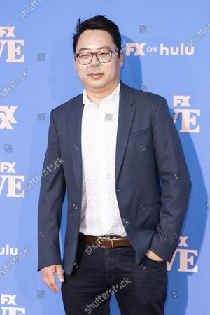 US producer James Shin poses on the red carpet prior to the premiere of the season two of FX television show 'Dave' at The Greek Theater in Los Angeles, California, USA, 10 June 2021. 'Dave' season 2 will be available to stream on FX on 11 June.