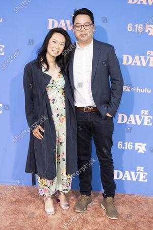 US producer James Shin (R) poses on the red carpet prior to the premiere of the season two of FX television show 'Dave' at The Greek Theater in Los Angeles, California, USA, 10 June 2021. 'Dave' season 2 will be available to stream on FX on 11 June.
