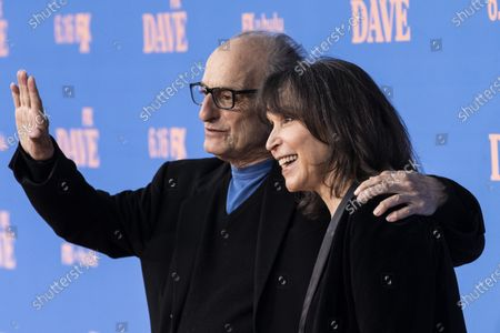 Gina Hecht (R) and actor David Paymer pose on the red carpet prior to the premiere of the season two of FX television show 'Dave' at The Greek Theater in Los Angeles, California, USA, 10 June 2021. 'Dave' season 2 will be available to stream on FX on 11 June.