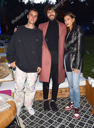 Exclusive - Justin Bieber, Lil Dicky, and Hailey Bieber attend the Season Two Red Carpet event for FXX's 'DAVE' at the Greek Theater