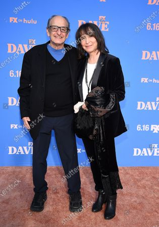 Gina Hecht, David Paymer attend the Season Two Red Carpet event for FXX's 'DAVE' at the Greek Theater
