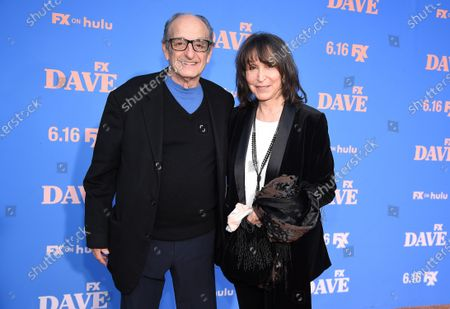 David Paymer, Gina Hecht attend the Season Two Red Carpet event for FXX's 'DAVE' at the Greek Theater