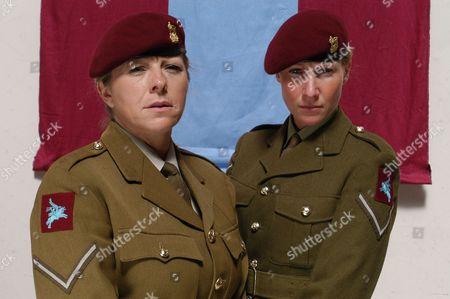 Pictured: Medical Officer Jennifer James Adams (JJ) with Provost Sergeant Susan Tucker