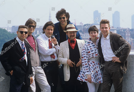 Left to right: Craig Charles, Robert Sandall, Rowland Rivron, Geoffrey Cantor, Kim Newman, Angie Clarke, Paul Thompson