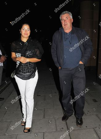 Editorial image of Carlo Ancelotti and Marina Cetu out and about, London, America - 13 Jul 2010