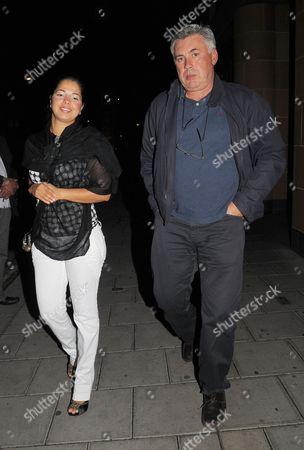 Stock Image of Carlo Ancelotti and Marina Cretu
