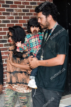 Stock Image of M.I.A and Benjamin Zachary Bronfman with their son Ikhyd Edgar Arular Bronfman