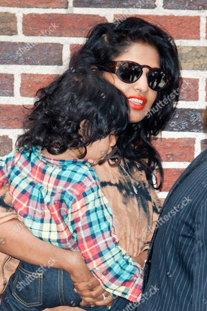 Stock Photo of M.I.A and her son Ikhyd Edgar Arular Bronfman