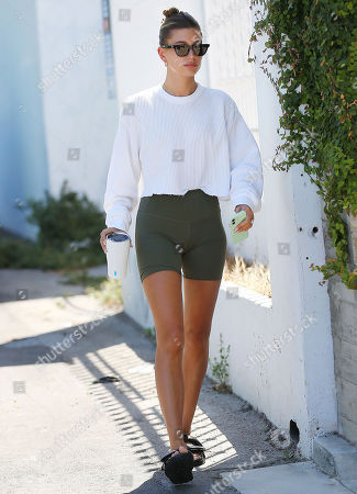 Hailey Bieber leaving the gym in West Hollywood