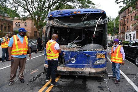 MTA Bus Crash in Brooklyn, New York