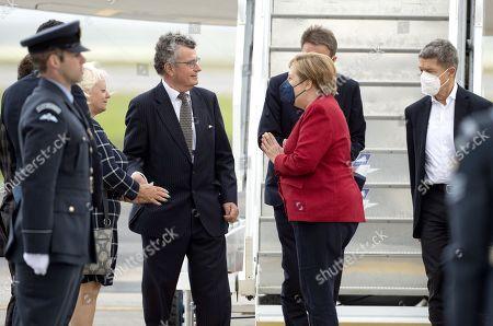 Chancellor of Germany Angela Merkel and her husband, Joachim Sauer