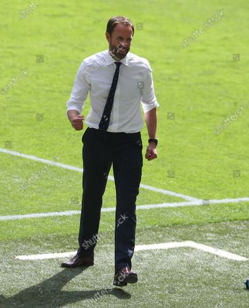 England manager Gareth Southgate celebrates on the final whistle