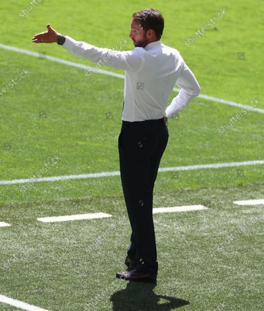 England manager Gareth Southgate gestures on the touchline