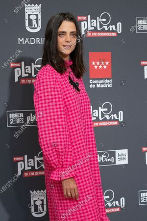 Actress Macarena Gomez attends to presentation of Platino Awards 2021 on June 11, 2021 in Madrid, Spain.