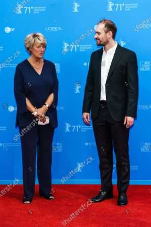 German Federal Government Commissioner for Culture and the Media Monika Gruetters (L) and Belarussian director Aliaksei Paluyan attend the premiere of 'Courage' during the 71st Berlin International Film Festival (Berlinale) Summer Special at the Museumsinsel (Museum Island) outdoor cinema in Berlin, Germany, 11 June 2021. The movie is presented in the festival's Berlinale Special section. Due to the coronavirus COVID-19 pandemic, the 71st Berlinale is taking place in two stages: a virtual Industry Event, that was held from 01 to 05 March 2021, and the Summer Special for the general public running from 09 to 20 June 2021 as an outdoor-only event.
