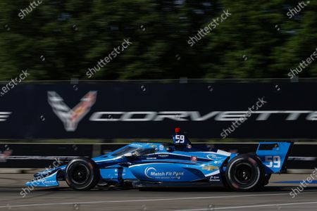 THE RACEWAY ON BELLE ISLE, UNITED STATES OF AMERICA - JUNE 11: #59: Max Chilton, Carlin Chevrolet at The Raceway on Belle Isle on Friday June 11, 2021 in Detroit, United States of America. (Photo by Jake Galstad / LAT Images)