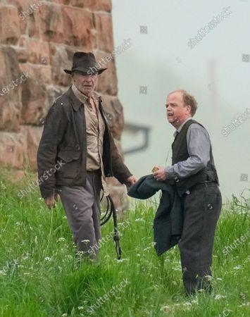 'Indiana Jones' on set filming, Scottish Borders