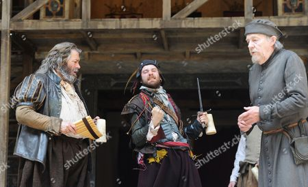 'Henry IV' - Roger Allam (Falstaff), Sam Crane (Pistol) and William Gaunt (Shallow)