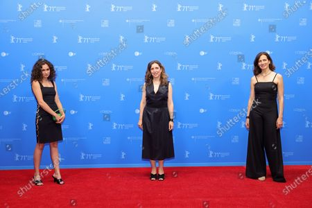 Paloma Vauthier, Joana Hadjithomas and Rim Turkhi attend the 'Memory Box' premiere during the 71st Berlinale International Film Festival Summer Special at Freiluftkino Museumsinsel in Berlin, Germany, 11 June 2021. Due to the ongoing COVID-19 pandemic, the 71st Berlin International Film Festival is taking place in two stages: an Industry Event in March and the Summer Special for the general public held from June 9 to 20 as an outdoor-only event.