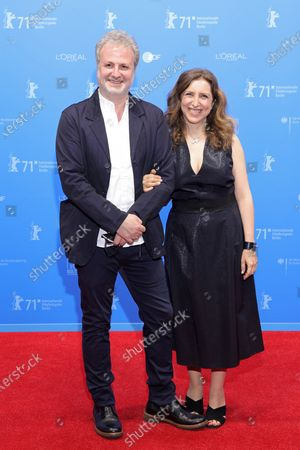 Stock Image of Khalil Joreige (L) and Joana Hadjithomas attend the 'Memory Box' premiere during the 71st Berlinale International Film Festival Summer Special at Freiluftkino Museumsinsel in Berlin, Germany, 11 June 2021. Due to the ongoing COVID-19 pandemic, the 71st Berlin International Film Festival is taking place in two stages: an Industry Event in March and the Summer Special for the general public held from June 9 to 20 as an outdoor-only event.