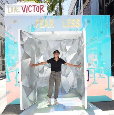 Hulu Photo-activation for Season 2 Premiere of 'Love, Victor', Santa Monica