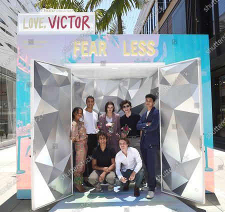 Editorial picture of Hulu Photo-activation for Season 2 Premiere of Hulu Original Series 'Love, Victor', Santa Monica, California, USA - 11 Jun 2021
