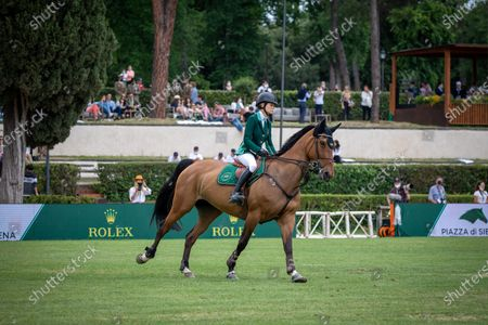 Malin Baryard-Johnsson (SWE) ride H&M INDIANA during the Rolex Grand Prix Rome at 88th CSIO 5° Master D'Inzeo at Piazza di Siena on May 30, 2021 in Rome, Italy.